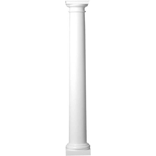 Crown Column 8 In. x 8 Ft. Unfinished Round Fiberglass Column