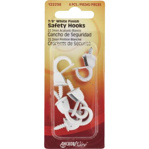 Hillman Anchor Wire 7/8 In. White Spring Safety Hook