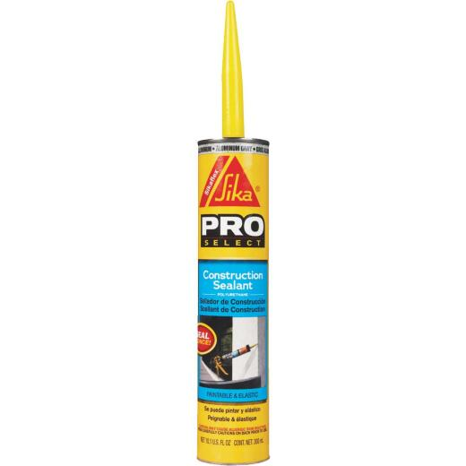 Sikaflex Sika 10.1 Oz. Pro Select Construction Polyurethane Sealant, Aluminum Gray