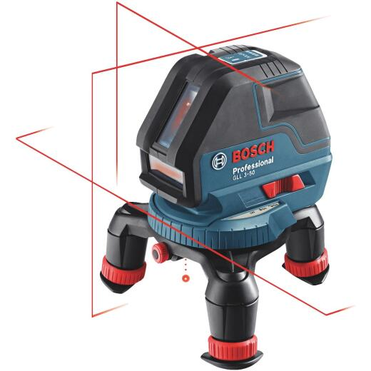 Bosch 165 Ft. Self-Leveling 360 Degree 3-Plane and Alignment Line Laser Level with Layout Beam