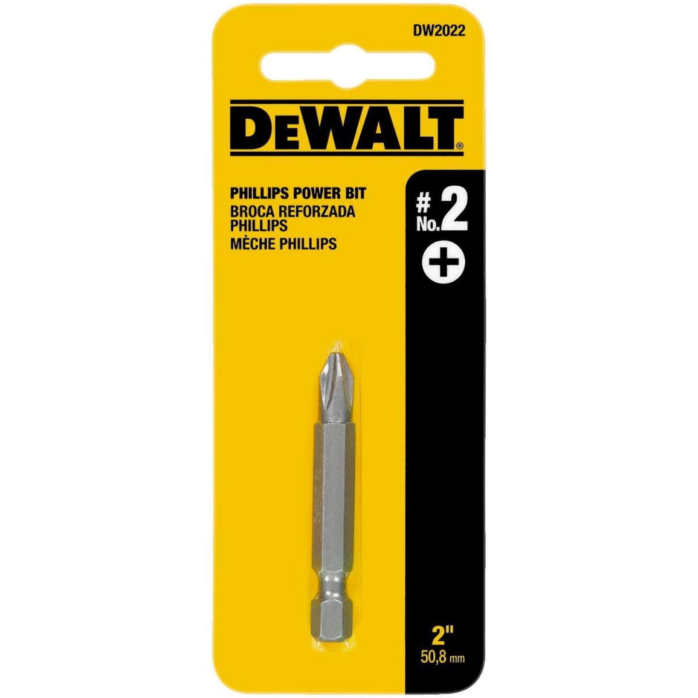 DeWalt Phillips #2 2 In. Power Screwdriver Bit Image 1