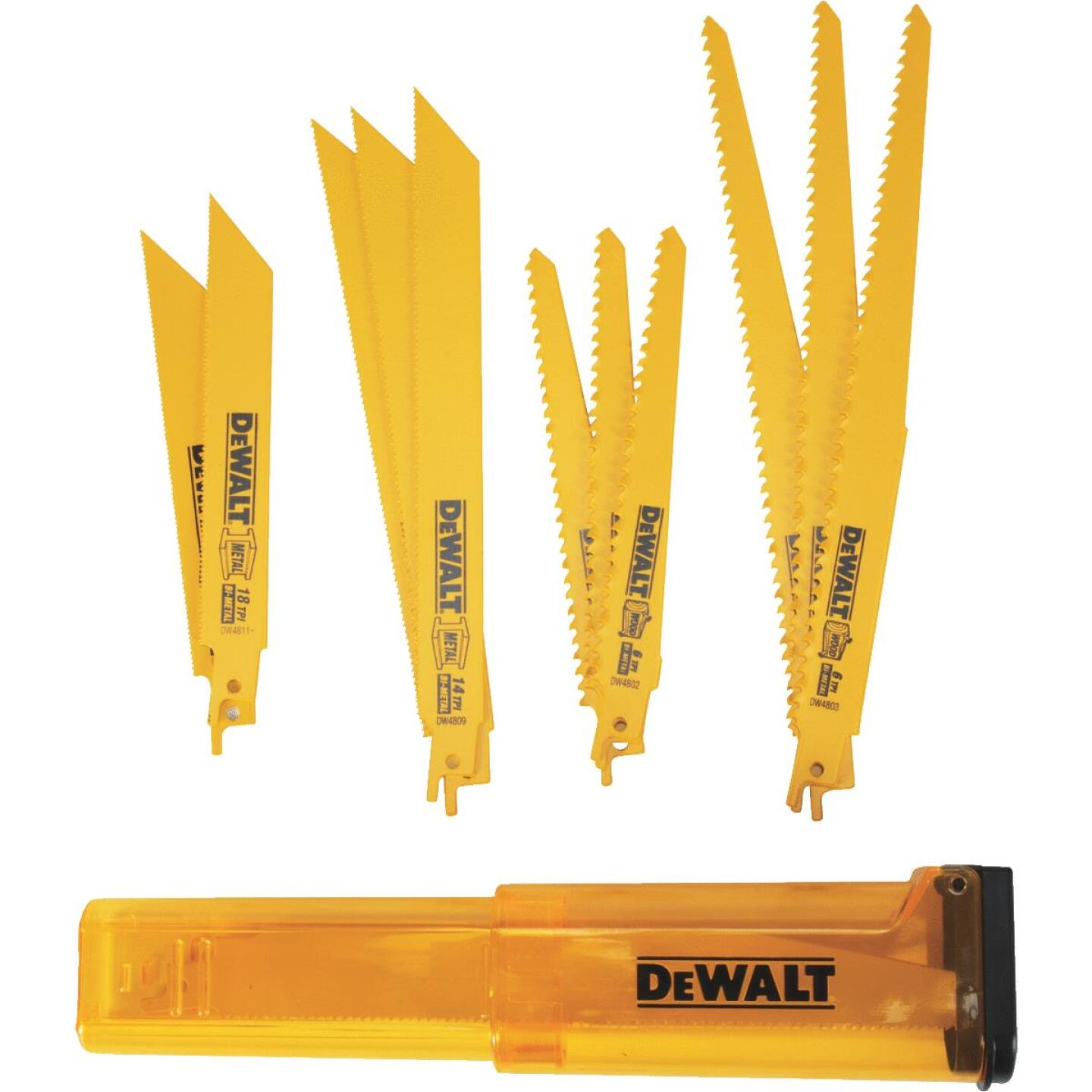 DeWalt 12-Piece Reciprocating Saw Blade Set Image 1