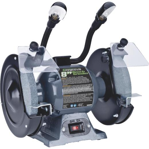 Genesis 8 In. 3/4 HP Bench Grinder with Lights