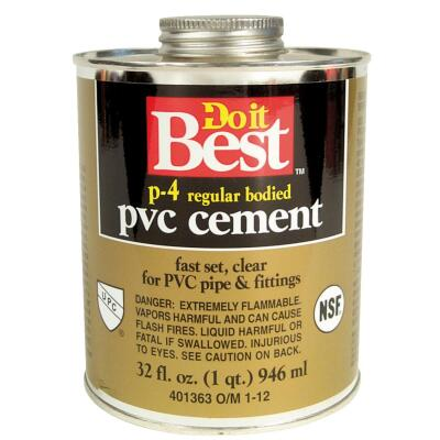 Do it Best 32 Oz. Regular Bodied Clear PVC Cement
