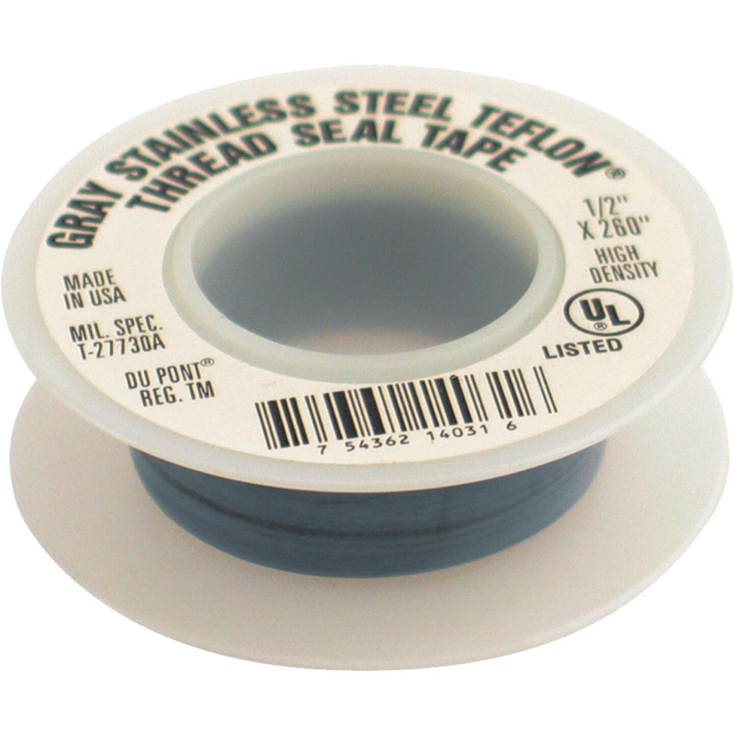 PLUMB-EEZE 1/2 In. x 260 In. Gray Non-Stick Coating Thread Seal Tape Image 1