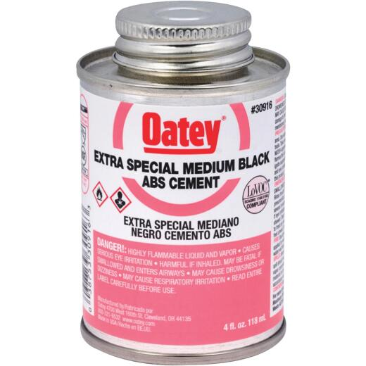 Oatey 4 Oz. Medium Bodied Black Extra Special ABS Cement