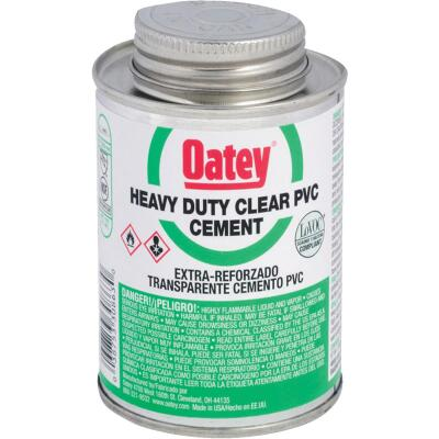 Oatey 4 Oz. Heavy Bodied Heavy-Duty Clear PVC Cement