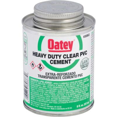 Oatey 8 Oz. Heavy Bodied Heavy-Duty Clear PVC Cement