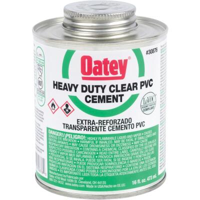 Oatey 16 Oz. Heavy Bodied Heavy-Duty Clear PVC Cement
