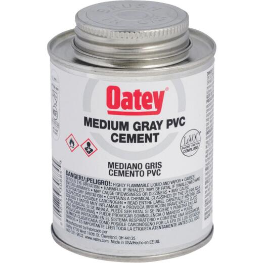 Oatey 32 Oz. 40 F to 90 F PVC Gray Cement