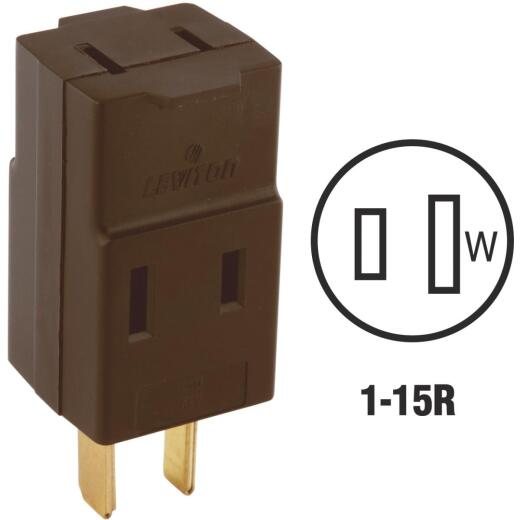 Leviton Brown 15A 3-Outlet Cube Tap