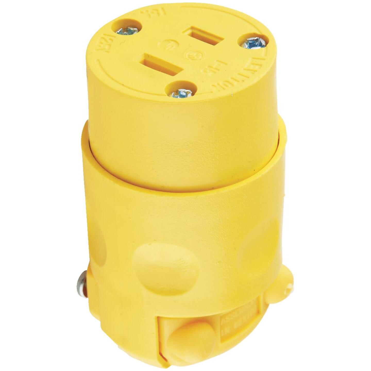 Leviton 15A 125V 2-Wire 2-Pole Residential Grade Cord Connector Image 3