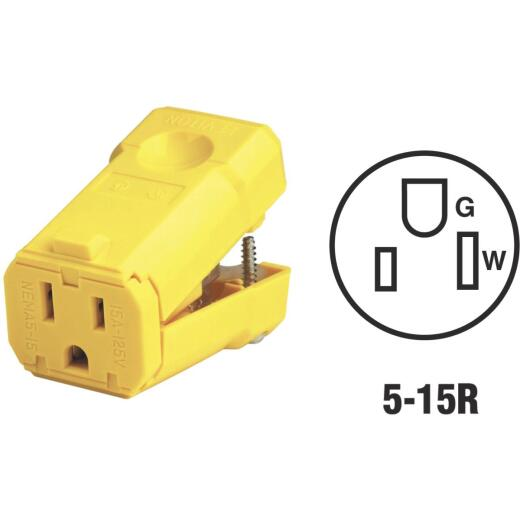 Leviton 15A 125V 3-Wire 2-Pole Python Cord Connector