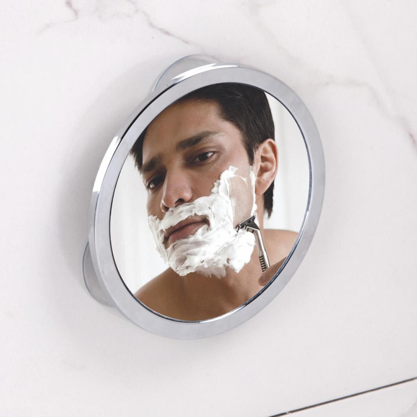 InterDesign Zia 5.75 In. Dia. Fog-Free Mirror Image 3