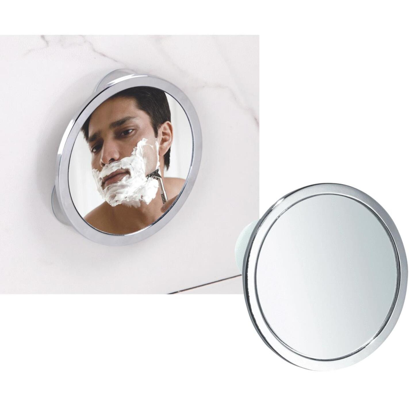 InterDesign Zia 5.75 In. Dia. Fog-Free Mirror Image 1