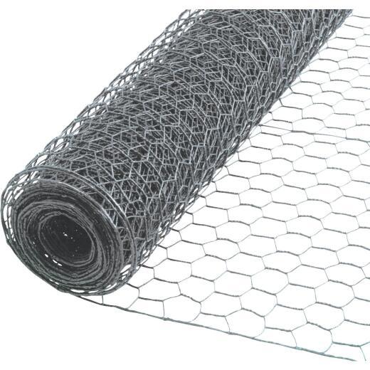 1 In. x 60 In. H. x 50 Ft. L. Hexagonal Wire Poultry Netting