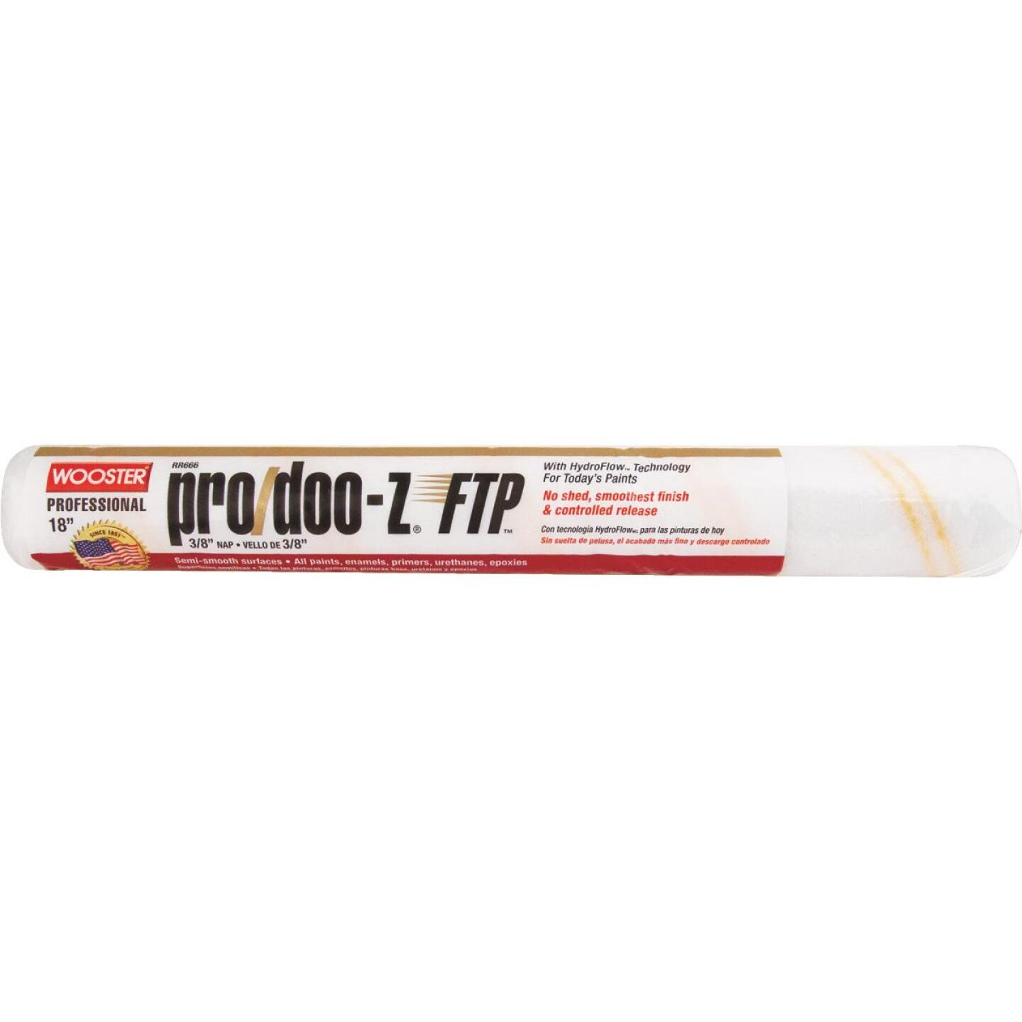 Wooster Pro/Doo-Z FTP 18 In. x 3/8 In. Woven Fabric Roller Cover Image 1
