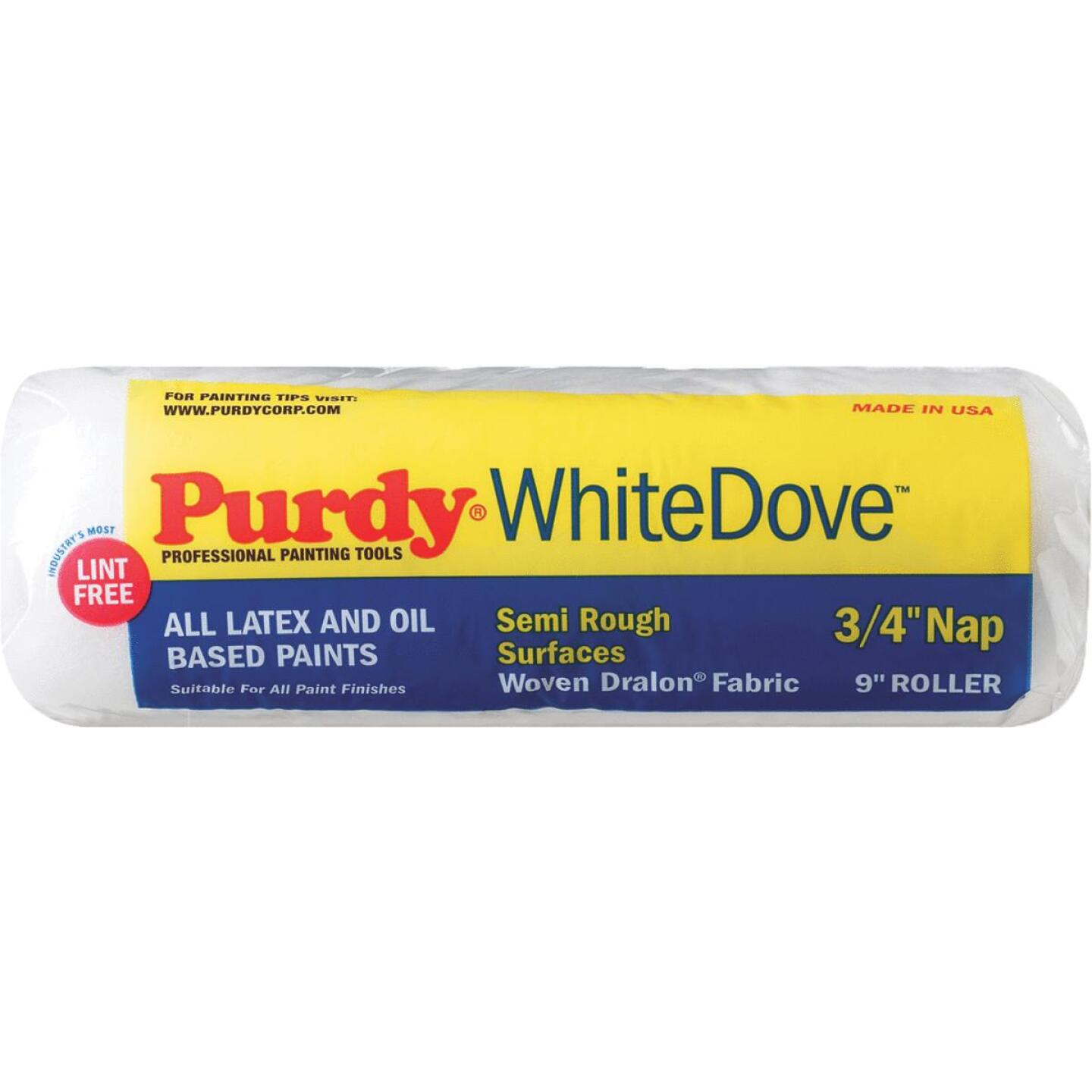 Purdy White Dove 9 In. x 3/4 In. Woven Fabric Roller Cover Image 1