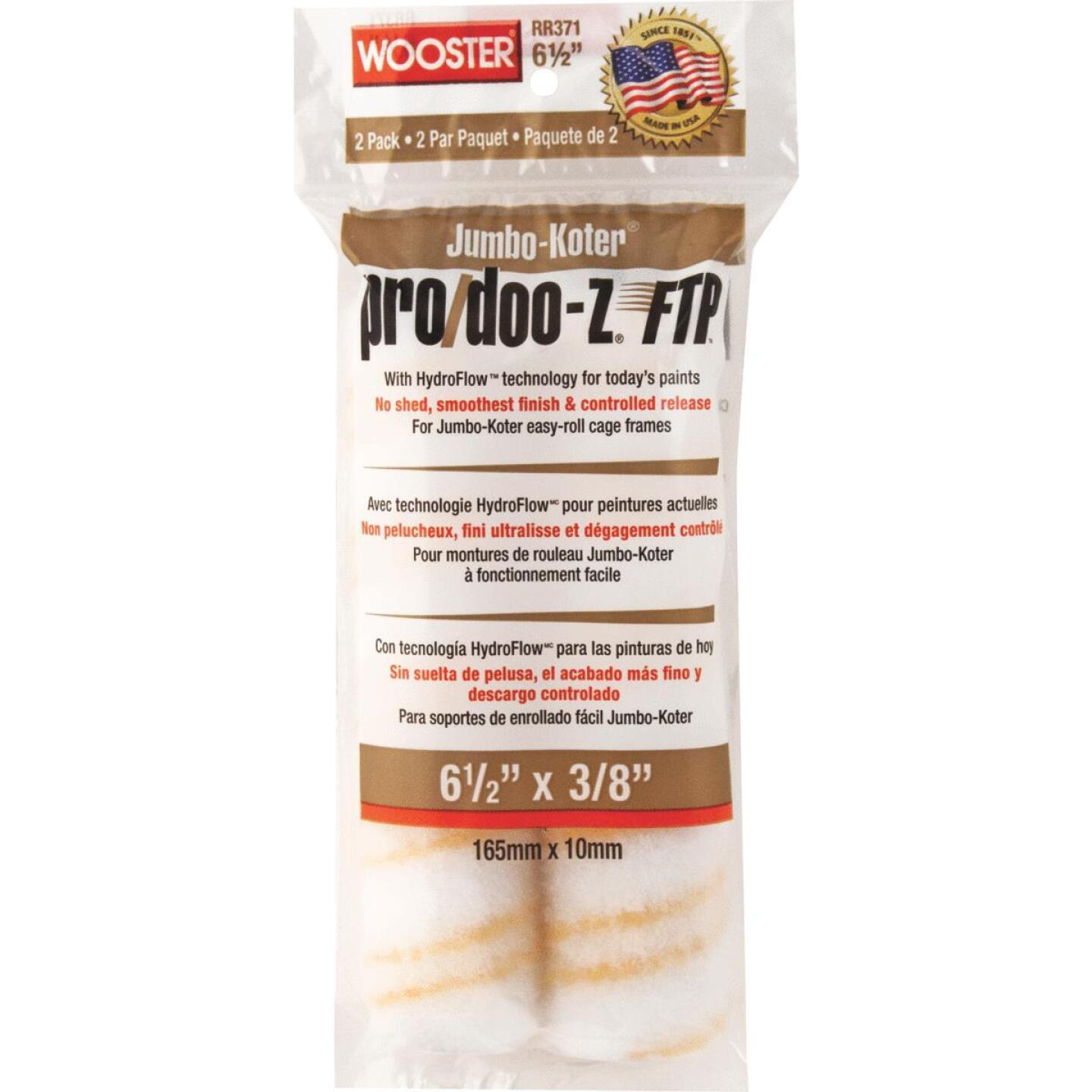 Wooster Jumbo-Koter Pro/Doo-Z FTP 6-1/2 In. x 3/8 In. Mini Woven Fabric Roller Cover (2 Pack) Image 1