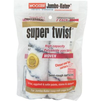 Wooster Jumbo-Koter Super Twist 4-1/2 In. Mini Knit Fabric Roller Cover (2-Pack)