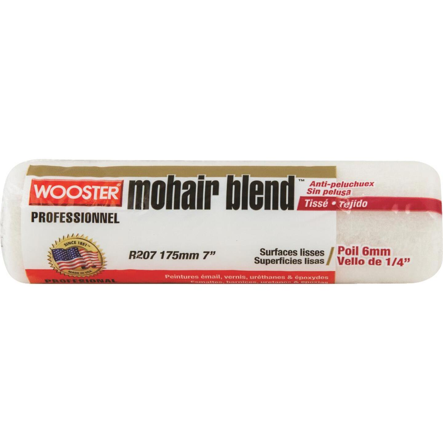 Wooster Mohair Blend 7 In. x 1/4 In. Woven Fabric Roller Cover Image 1