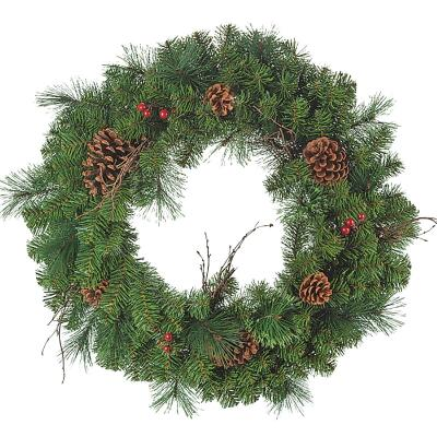 Gerson 30 In. Pine Artificial Wreath with Berries